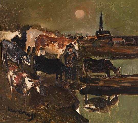 Albert Saverys, Landschap met koeien, © KMSKA / Lukas-Art in Flanders vzw – foto Hugo Maertens, Aanvullende rechten: Sabam