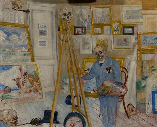 James Ensor, Het schilderend geraamte, KMSKA