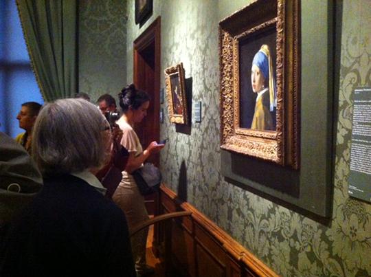 Vermeers 'Meisje met de parel' in het Mauritshuis